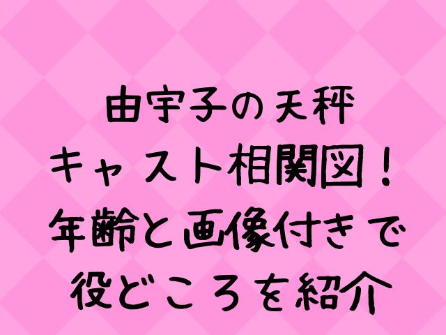 由宇子(ゆうこ)の天秤のキャスト相関図一覧!
