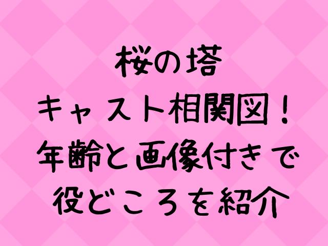 桜の塔のキャスト相関図一覧!年齢と画像付きで紹介